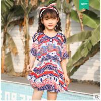 新款儿童泳衣女孩中大童宝宝连体裙式可爱韩国小孩女童游泳装