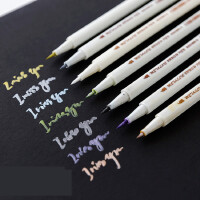 STA 斯塔相册笔 金属珠光彩色软笔毛笔 DIY相册油漆笔 金属彩色笔