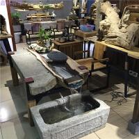 禅意流水茶台中式实木家具仿古典功夫泡茶桌椅组合小户型茶室茶几 整装