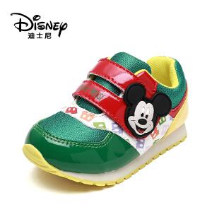 鞋柜/迪士尼卡通童鞋春秋牛筋魔术贴网面休闲男童鞋1