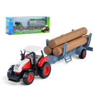 儿童车农夫车仿真车合金拖拉机模型收割机运输车玩具套装男孩
