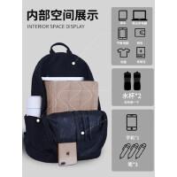 李宁双肩包简约运动男女背包正品防水大容量旅行电脑包中学生书包