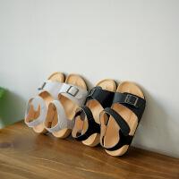 幼儿男宝2女宝女宝宝凉鞋1-3岁夏季防滑软底儿童小童沙滩鞋真皮潮