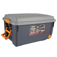搬家收纳箱塑料特大号整理箱可锁拉杆储物箱汽车后备箱户外箱 灰色 长76cm宽45cm高40cm