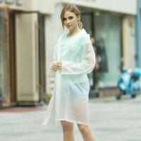 时尚女士风衣款雨衣雨披 户外雨衣