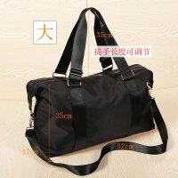 旅行包手提可折叠短途出差行李包男士旅游包大容量健身包简约轻便 黑色 号