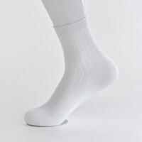 冬季棉袜男袜子男士中筒袜全棉吸汗纯棉商务纯色秋冬款黑白色 其他尺寸