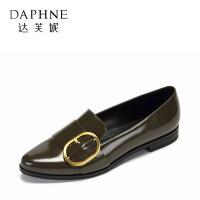 【达芙妮集团大牌日 限时2件2折】Daphne/达芙妮春秋单鞋休闲低跟皮带扣装饰OL女鞋