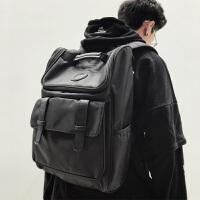 潮牌双肩包男时尚潮流初中生书包女大学生高中休闲大容量旅行背包