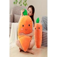 女生抱着睡觉的布娃娃萌创意胡萝卜床上抱枕公仔懒人大号毛绒玩具