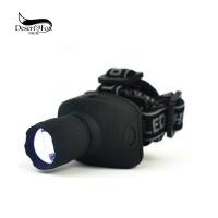 户外LED远射程强光头灯 节能三档伸缩变焦电筒 野外钓鱼灯夜行灯