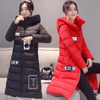 中学生棉衣女中长款韩版修身羽绒加厚保暖棉袄外套2017冬装潮