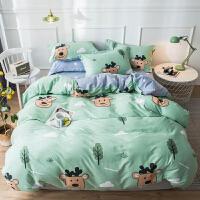全棉四件套纯棉被套床单双人纯棉四件套1.5m/1.8米床上用品