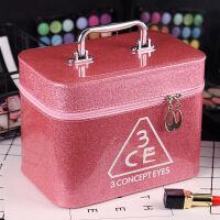 韩国化妆包化妆箱收纳盒大容量化妆品包小方包可爱手提洗漱包