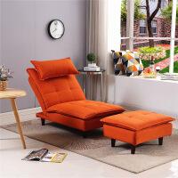 懒人沙发单人卧室简约现代多功能折叠椅小户型客厅阳台休闲沙发 +脚踏