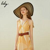 【LILY超品/秒杀价:59】Lily夏简约chic复古时髦圆环气质长腰带女119210FZ464