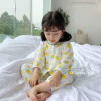 女童睡衣儿童长袖女宝宝小童薄款夏季两件套装
