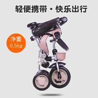 儿童三轮车手推车宝宝1-3岁脚踏车自行车童车折叠轻便