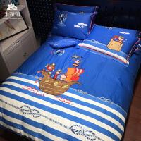 儿童卡通纯棉四件套全棉1.8米床上用品1.5被套床笠2.0m床单三件套