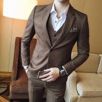 17春季男士小西服套装三件套韩版修身型新郎结婚礼服西装潮男