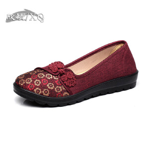 欣清老北京布鞋女单鞋时尚休闲中老年平跟妈妈鞋