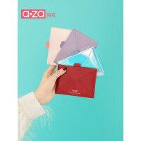 aza新款卡包一体小巧超薄ck迷你钱包女短款学生简约ins韩版零钱包