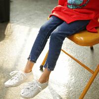 2018春秋季童装韩版女童牛仔裤弹力铅笔长裤中大童修身小脚长裤子