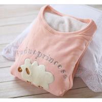富朵秋冬季孕产妇哺乳睡衣喂奶衣 加绒加厚不倒绒月子服秋衣裤