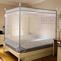 新款蚊帐三开门方顶加密加厚支架1.5米1.8m1.2床双人家用
