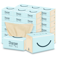 喜朗本色纸巾24包3层加厚婴儿抽纸鳄梨娇奢竹浆纸家用整箱面巾纸