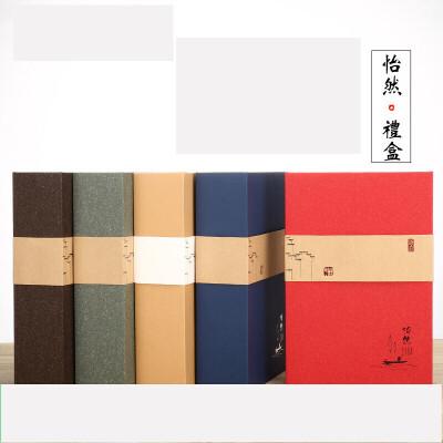 通用半斤牛皮纸简易茶叶礼盒铁观音红茶岩茶大红袍小泡袋装 花红内配八小盒 手提红色