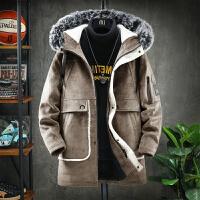 呢子大衣冬季韩版男英伦风中长款大衣潮流帅气风衣男士加厚外套潮