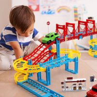 儿童玩具电动轨道车赛车跑道益智赛道拼装汽车小火车男孩3-6岁4-5