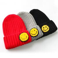 【2件2折】左西童装男童帽子秋冬儿童加厚针织毛线帽韩版潮冬装2021新款
