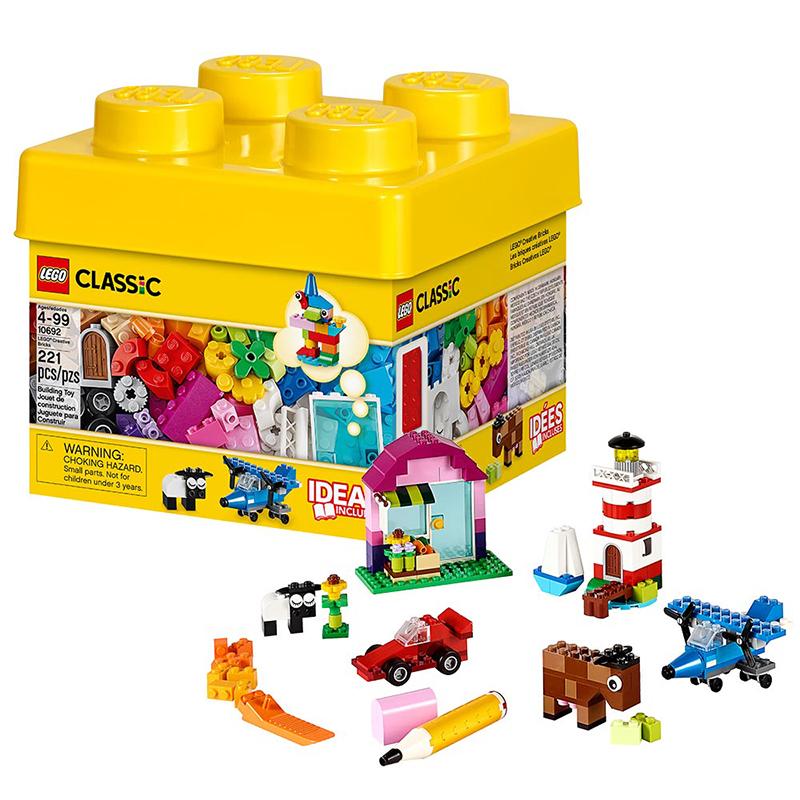 [当当自营]LEGO 乐高 CLASSIC经典创意系列 小号积木盒 积木拼插儿童益智玩具 10692 【当当自营】适合4岁上,221pcs 小颗粒积木