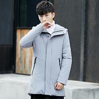 加厚羽绒服男中长款新款韩版修身正品潮流青年外套0642-OJLK