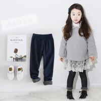 韩国童装中大女童打底裤加厚加绒冬款韩版超柔软仿牛仔裤儿童长裤