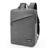 男士双肩包电脑包商务背包男韩版15.6寸14手提大学生方形女书包bt 1516-灰色