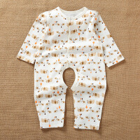 活力熊仔 童装春夏新品婴儿服装天然彩棉宝宝爬服百搭开档设计长袖哈衣