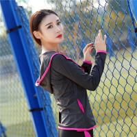 201804130528559跑步健身服女运动外套秋冬 速干衣紧身瑜伽服上衣长袖