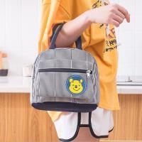 可爱小熊帆布包外出手提包便当包加厚手拎防水饭盒包保暖袋