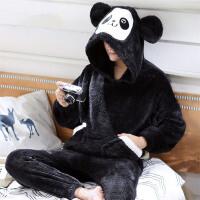 男士睡衣冬季法兰绒动物珊瑚绒秋冬款冬天保暖家居服