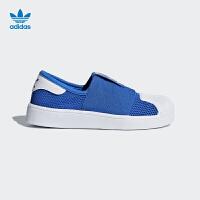 阿迪达斯(adidas)2018年新款童鞋男童女童三叶草网眼休闲鞋