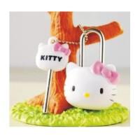 陆捌壹肆 机器猫 Hello Kitty 可爱公仔头挂锁 卡通锁 记事本锁 钥匙扣 1个装