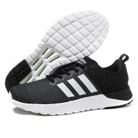 adidas阿迪达斯NEO男子休闲鞋年新款cloudfoam跑步鞋BB9763QC