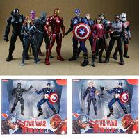 漫威钢铁侠美国队长蜘蛛侠3手办人偶玩具套装英雄远征复仇者联盟4