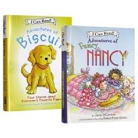 爱打扮的小南茜 4个故事合集 Adventures of Fancy Nancy 英文原版绘本 小饼干狗4个故事合集 I