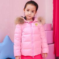 芭比童装女童秋冬装羽绒服加厚短款儿童中大童女童宝宝外套