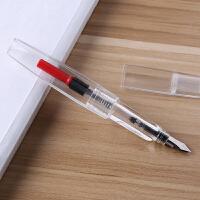 派顿SIKIB F-18三角菱形钢笔大中小学生男女生学习成人商务办公书写练字用彩墨墨水透明钢笔文具 0.5当当自营