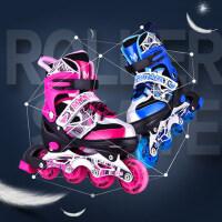 新款八轮全闪光直排滑冰鞋轮滑鞋舒适透气儿童溜冰鞋时尚炫酷滑轮鞋